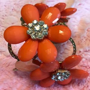Jewelry - Orange Flower Bracelet